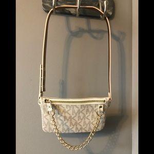 Michael Kors belt bag with chain